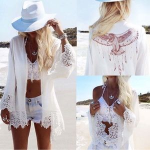 Swim - BOHO Beach Cover up - WHITE